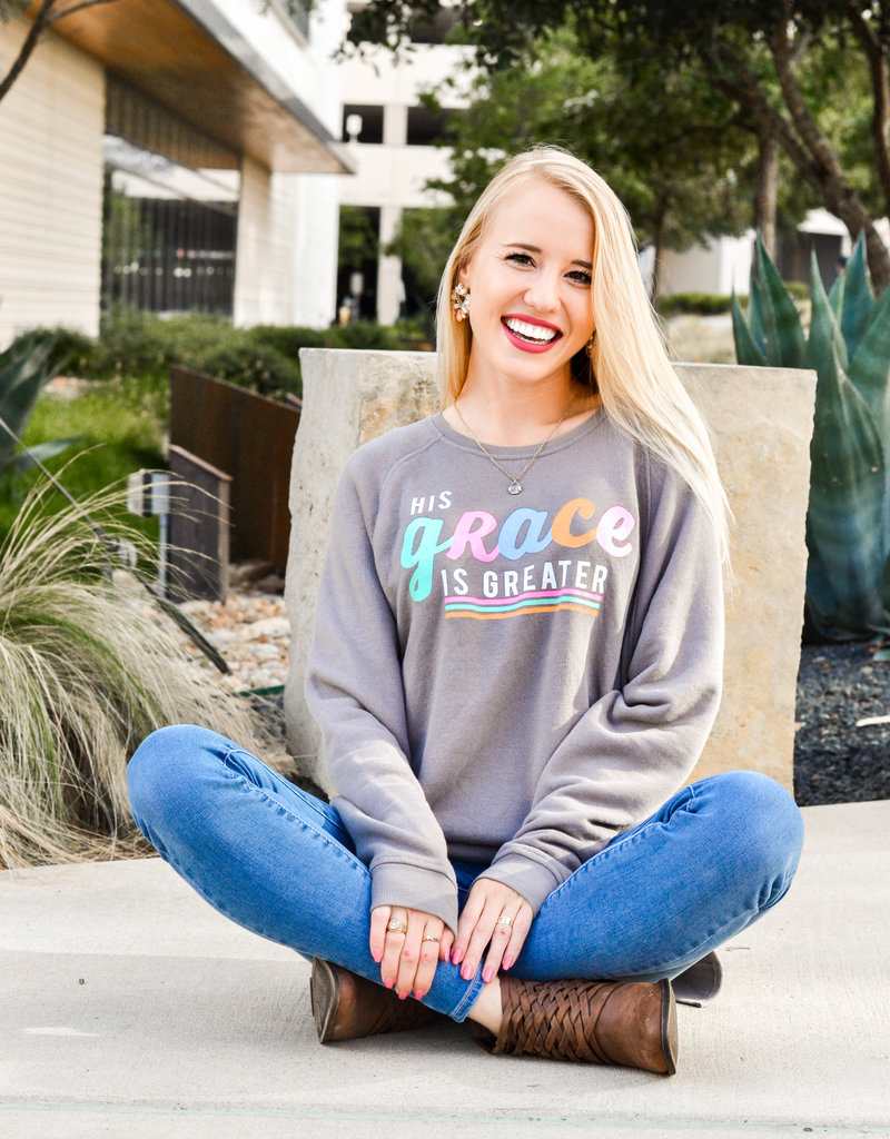 Jadelynn Brooke His Grace Is Greater Sweatshirt