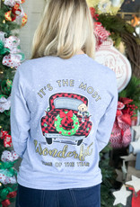 simply southern Wonderful Time Truck Long Sleeve Tee