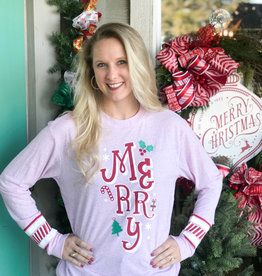 Jadelynn Brooke Merry Candy Cane - Long Sleeve Tee