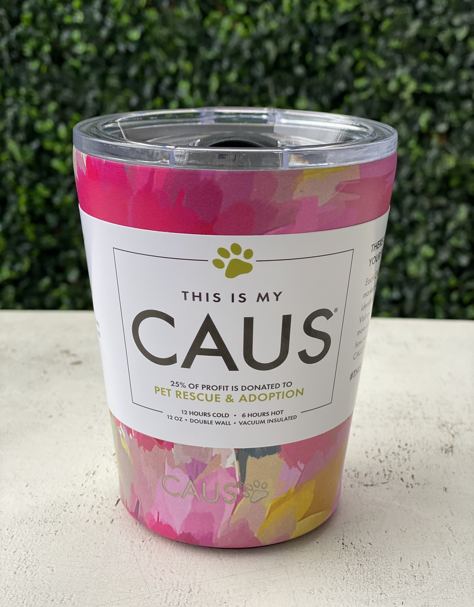 Caus Coffee Tumbler Watercolor Flower