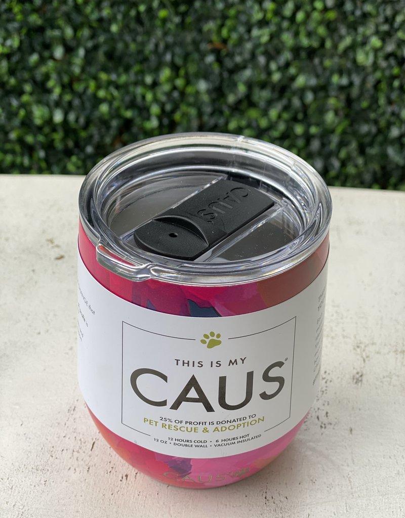 Caus Caus Wine Tumbler Watercolor Flower