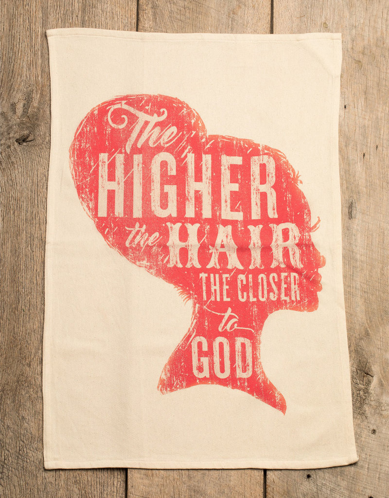 Southern Fried Design The Higher the Hair Kitchen Towel