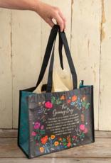 Black Floral Giving Bag