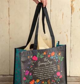 Natural Life Black Floral Giving Bag