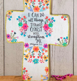 Natural Life Do All Things Wooden Cross
