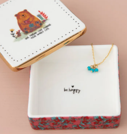 Natural Life Friend Can Change Ceramic Trinket Box