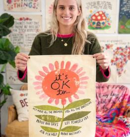 It's Ok Mini Canvas Tapestry