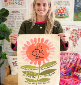 Natural Life It's Ok Mini Canvas Tapestry