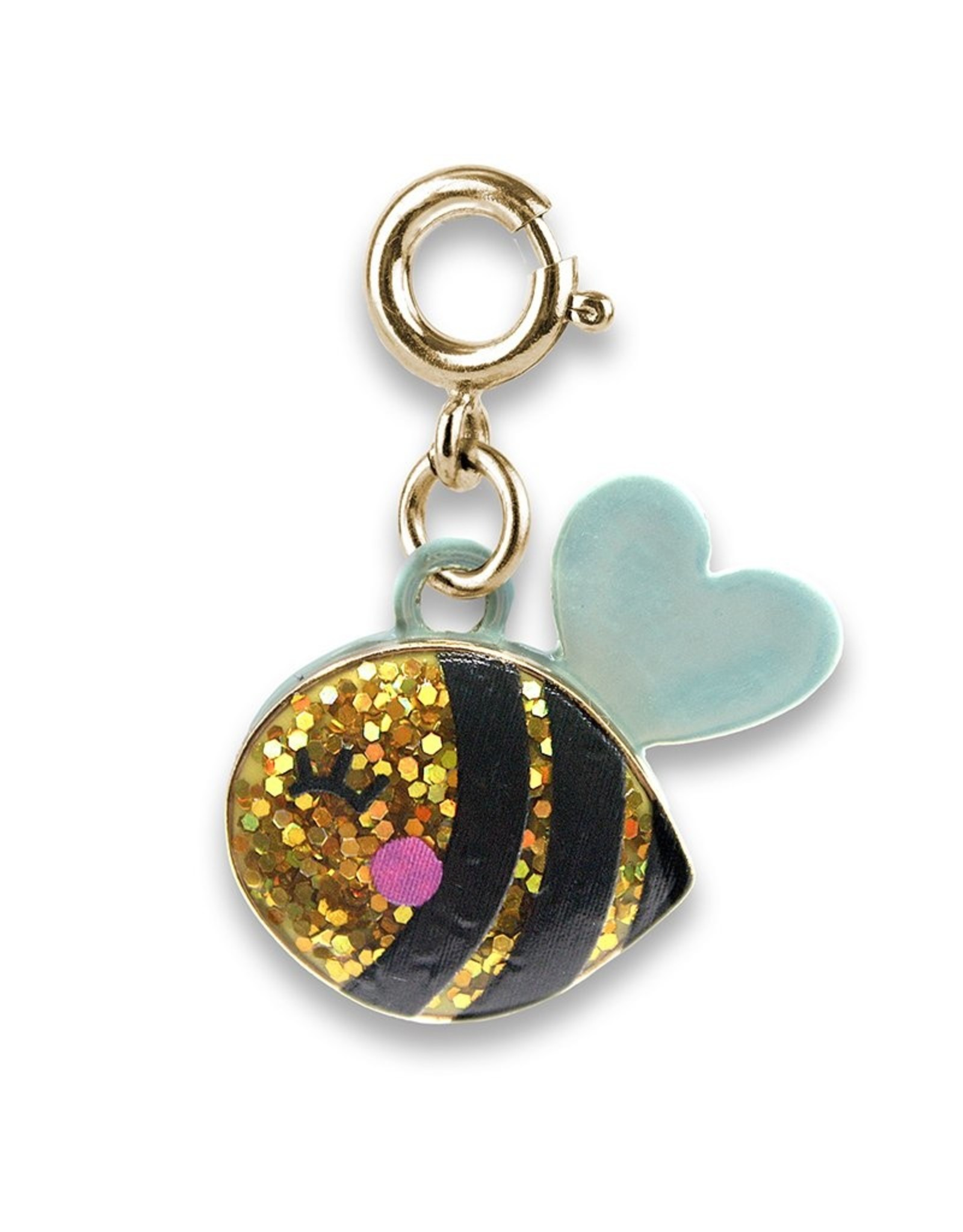 Gold Glitter Bee Charm