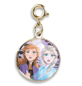 Gold Anna & Elsa Locket Charm