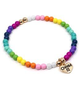 High Intencity Rainbow Bead Charm Bracelet