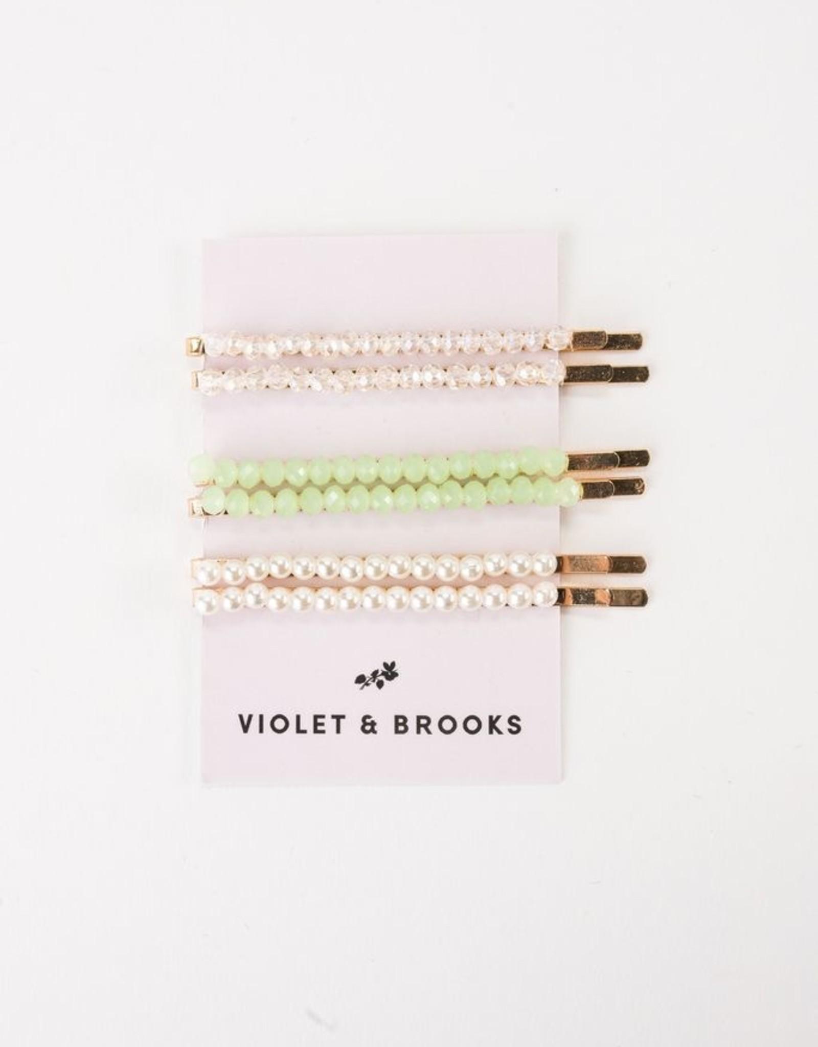 Brie Glass Bead Bobbie Set