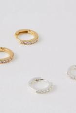 Estella Bartlett Silver w/White Stone Pave Earrings