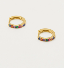 Estella Bartlett Multi color Pave Hoop Earrings
