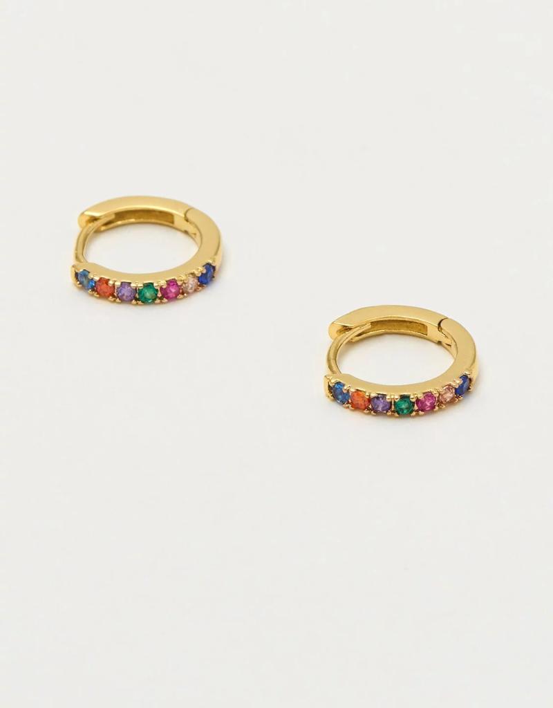 Estella Bartlett Multi color Pave Hoop Earrings