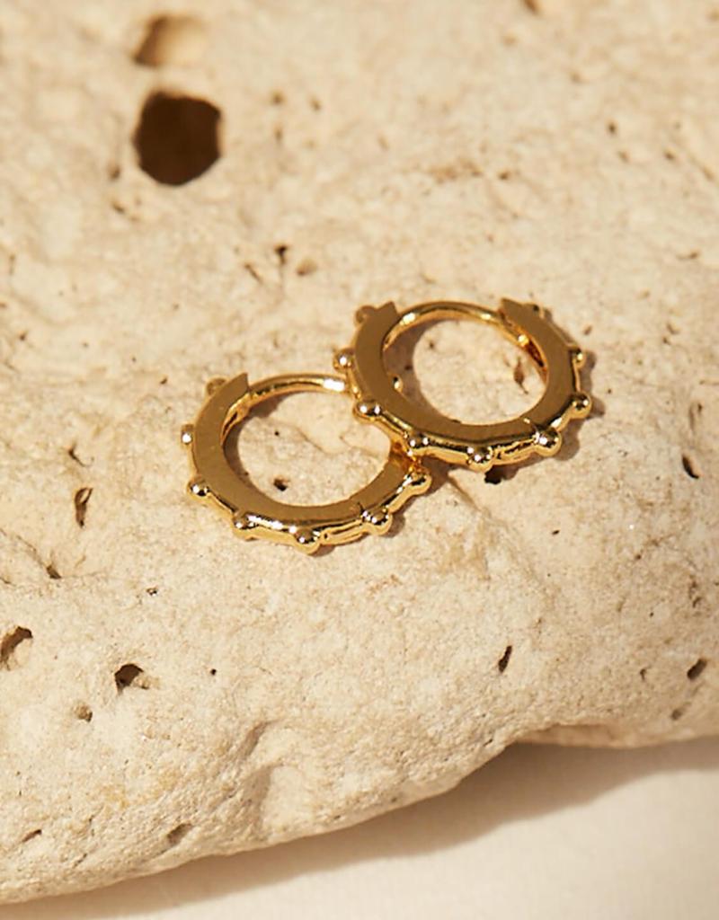 Estella Bartlett Gold Graduated Huggy Earrings