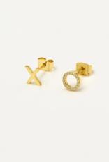 Estella Bartlett XO Gold Earrings