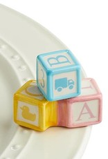 nora fleming Baby Blocks Mini A191