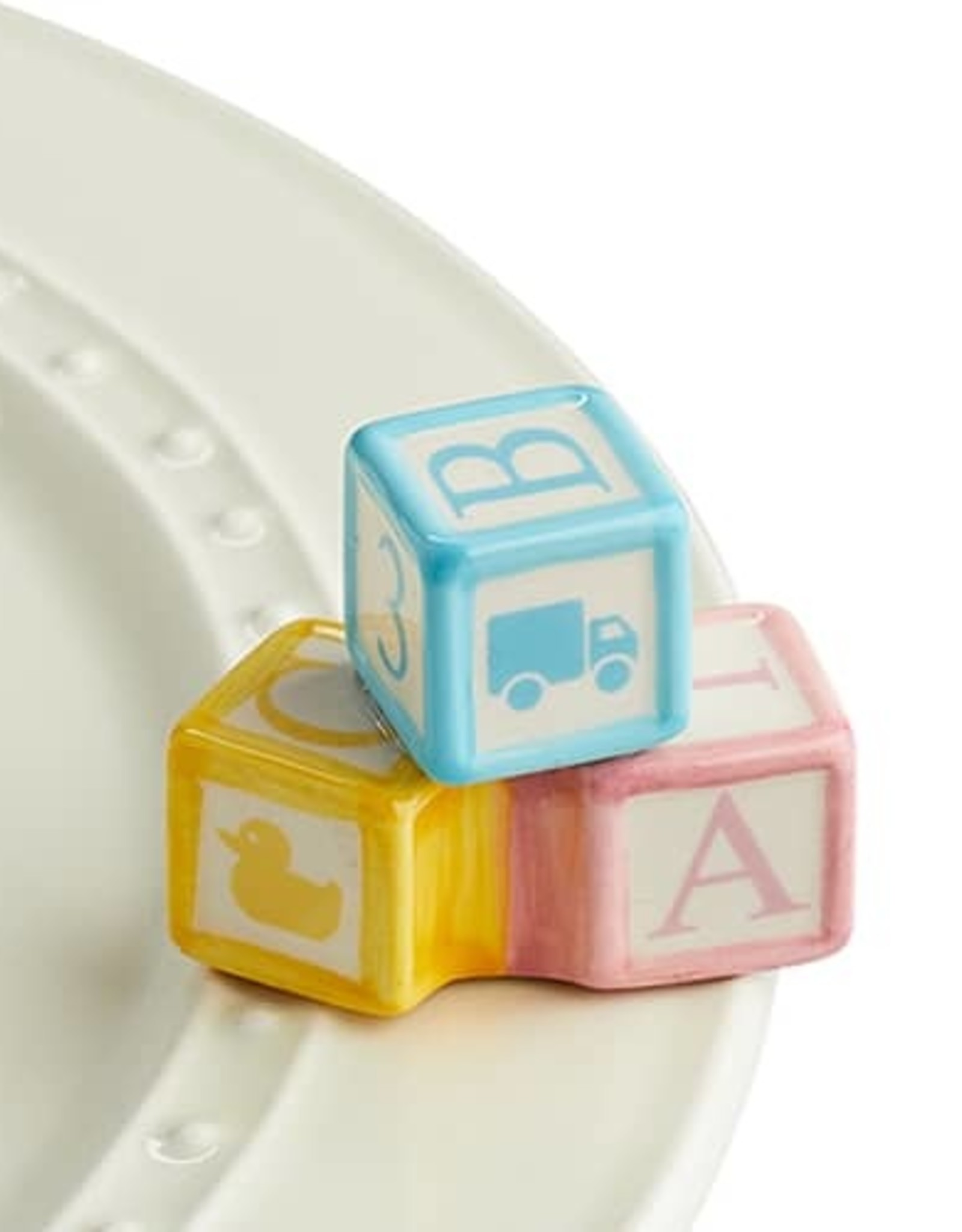 nora fleming Baby Blocks Mini A191
