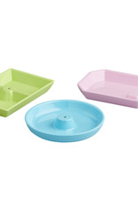 nora fleming NF Pink/Green/Blue Dishes S/3