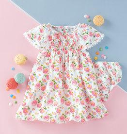 Mudpie Rosebud Smocked Dress & Bloomer Set