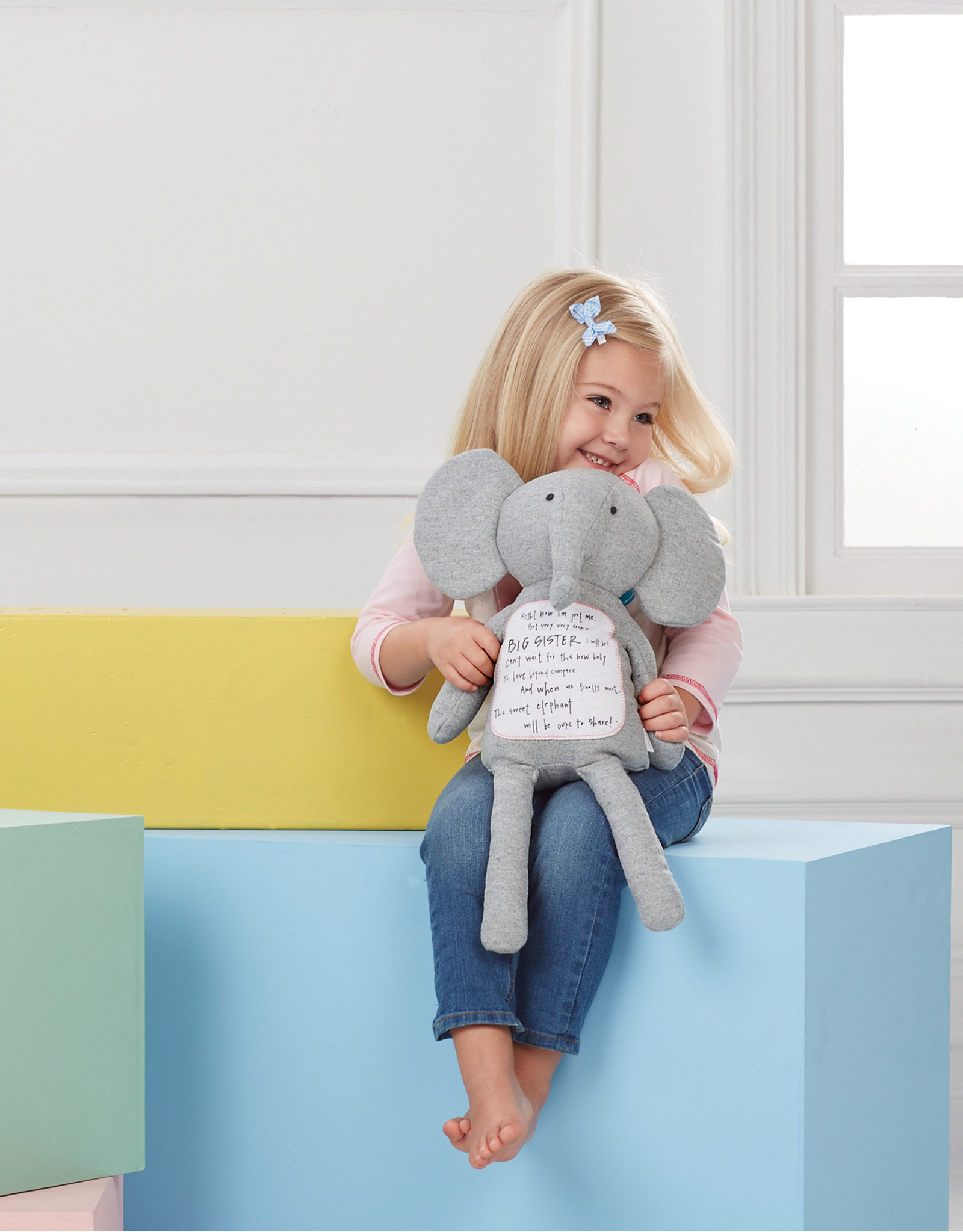 Mudpie Big Sister Elephant Plush