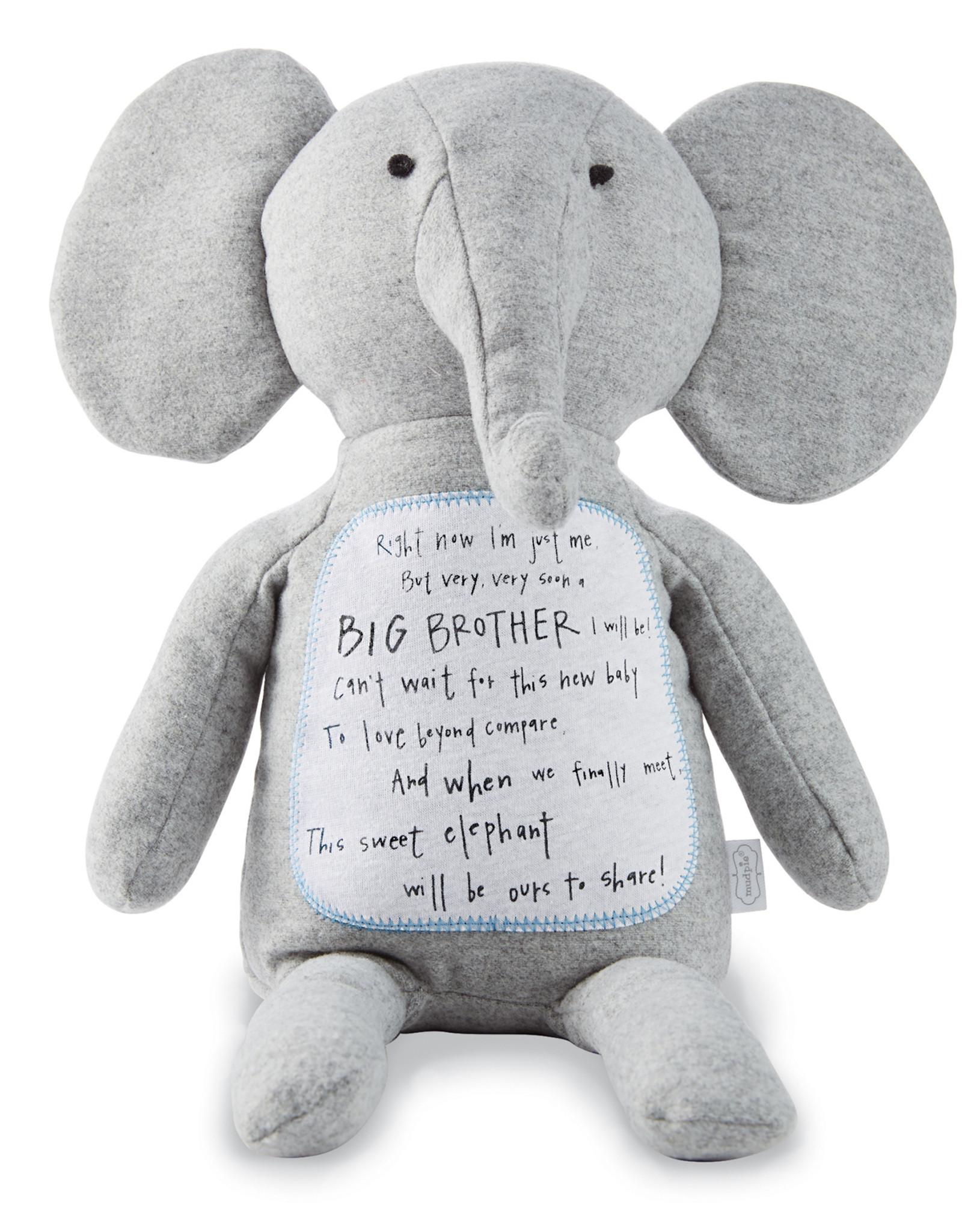 Mudpie Big Brother Elephant Plush