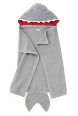Mudpie Baby Shark Hooded Towel