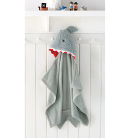 Mudpie Baby Shark Hooded Towel