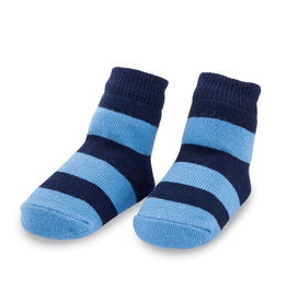 Mudpie Navy Wide Stripe Socks