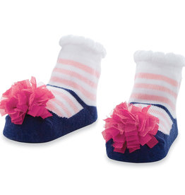 Mudpie Navy/Pink Stripe Socks