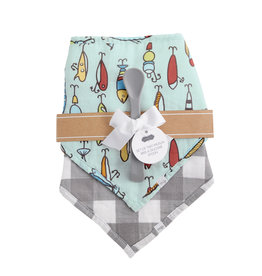 Mudpie Fish Muslin Bib and Spoon Set