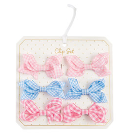 Mudpie Gingham Bitty Bow Set