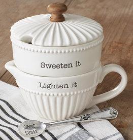 Mudpie Stacking Cream & Sugar Set