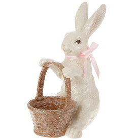 RAZ Imports Ceramic Bunny w/ Basket