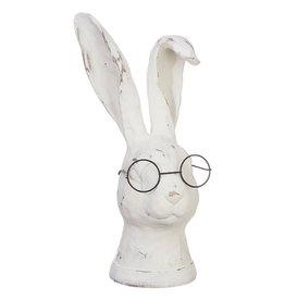 RAZ Imports Bunny Figurine w/ Glasses
