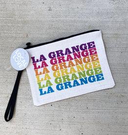 rock scissor paper La Grange Zipper Pouch - Multicolor