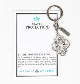 my saint my hero St. Christopher Travel Protection Key Ring