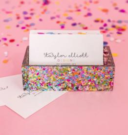 Taylor Elliott Designs Confetti Business Card Holder