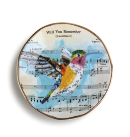 demdaco Hummingbird Song Dish