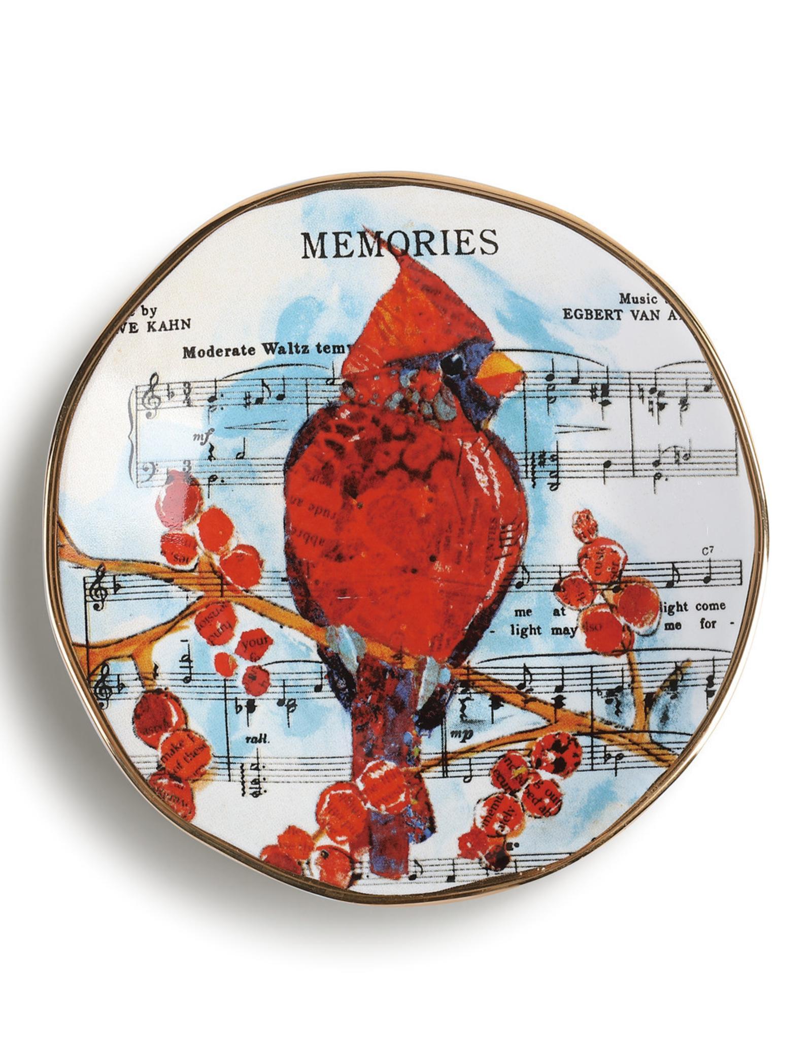 Cardinal Song Dish