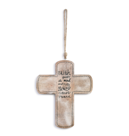 demdaco Faith Great Peace Wood Cross