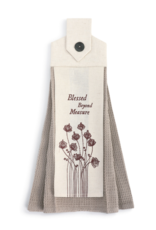 Blessed Beyond Button Loop Towel