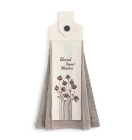 demdaco Blessed Beyond Button Loop Towel