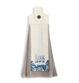demdaco Happy Place Button Loop Towel