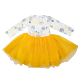 Mila & Rose Yellow & Blue Tutu Dress
