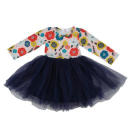 Mila & Rose Retro Floral Navy Tutu Dress