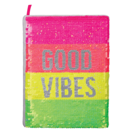 Fashion Angels Neon Sequin Good Vibes Journal