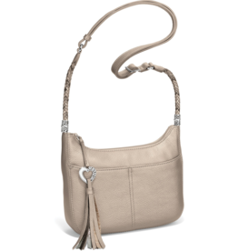 Brighton Baby Barbados Cross Body Hobo - Zinc Pearl