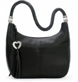 Brighton Barbados Ziptop Hobo - Black